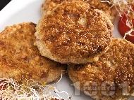 Пържени оризови кюфтета с бекон и овесени ядки